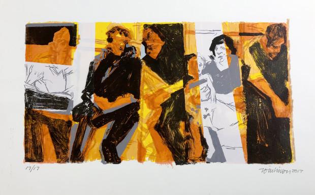 Ron Tomlinson, Border Lines (Variation V), 2017