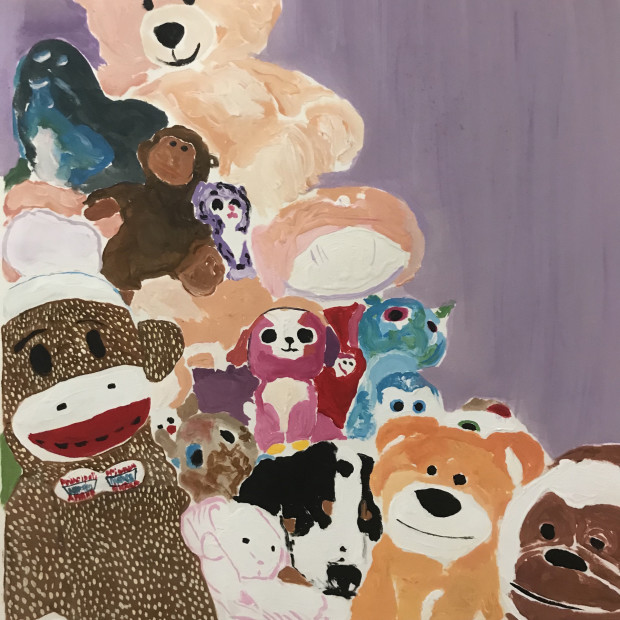 Maisie Alford, cuddly composition, 2018