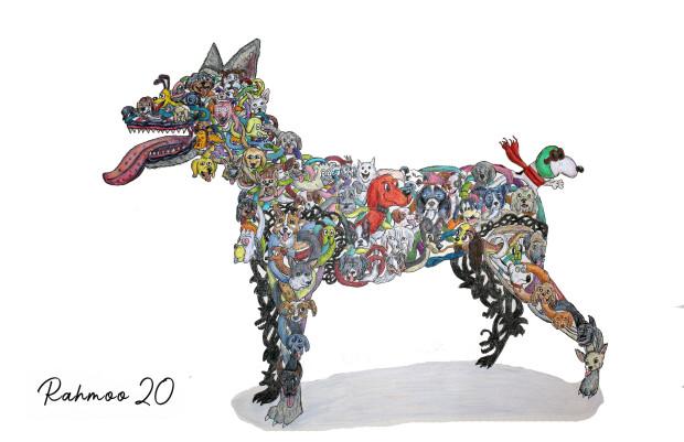 Christopher Rahmeh, Dog Spaghetti, 2020