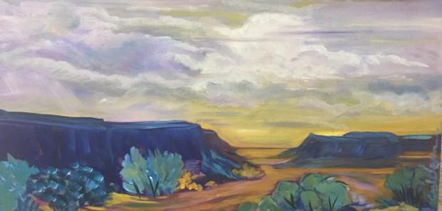 Caroline Jackson, Clouds over Blue Mesa, 2020