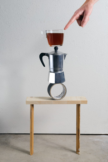 Jake Dockins, Sculpture with Coffee, 2020