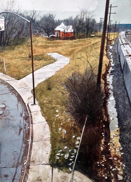 Daniel Blagg, Along The Tracks, 2017
