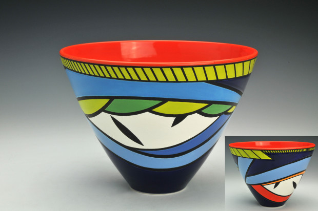 Pamela Summers, Bowl Red Center, 2019
