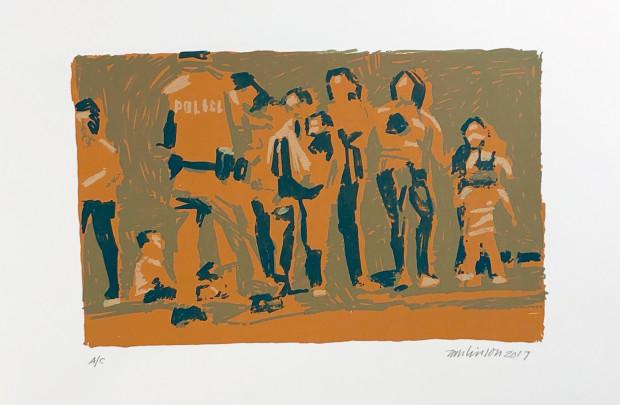 Ron Tomlinson, Border Lines (Variation XII), 2017