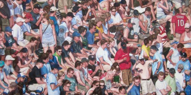 Treslyn Shipley, A Crowd at a Baseball Game, 2020