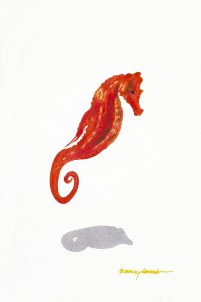 Nancy Lamb, Little Red Seahorse, 2020