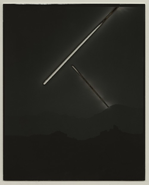 Chris McCaw Heliograph #129, 2016 Unique silver gelatin paper negative 25.4 x 20.3 cm 10 x 8 in