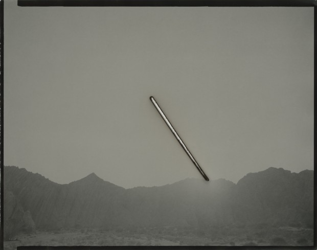 Chris McCaw Sunburned GSP#1023 (Mojave), 2019 Unique silver gelatin paper negative 27.9 x 35.6 cm 11 x 14 in