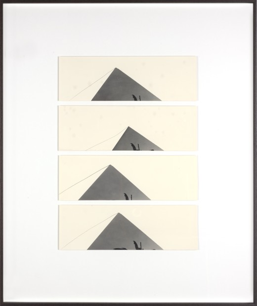 Bruno V. Roels The Pyramids and Palm Trees Test (Perfection Part I), 2018 Composition of four silver gelatin prints 60 x 50 cm 23 5/8 x 19 3/4 in
