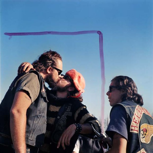 Hunter S. Thompson, Hell's Angels, Kissing Guys, c. 1960s