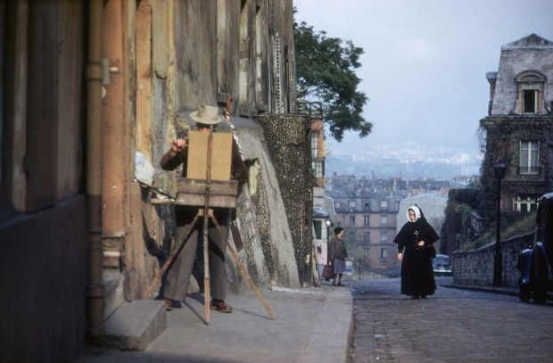 Ernst Haas, Parisian Painter, Paris, 1955