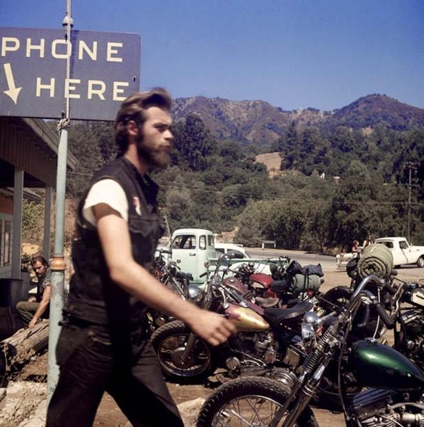 Hunter S. Thompson, Hell's Angels, Walking, California, c. 1960s