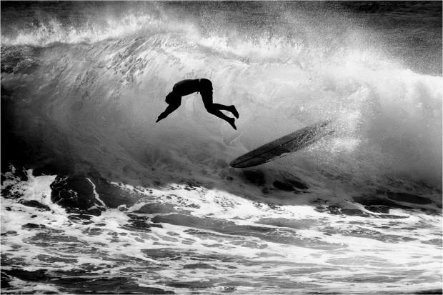 LeRoy Grannis, Dive, Makaha, 1964