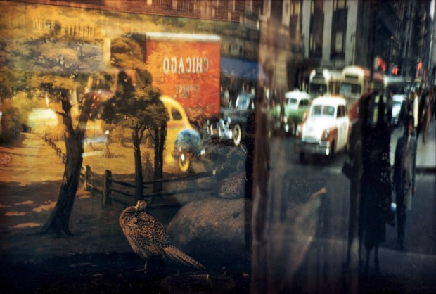 Ernst Haas, Reflection - 42nd Street, NY, 1952