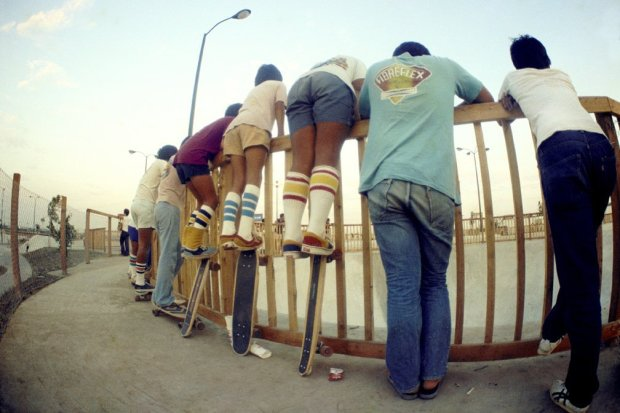 <span class=%22title%22>Tube Socks on Board, Marina Del Rey Skate Park (No. 61)<span class=%22title_comma%22>, </span></span><span class=%22year%22>1977</span>
