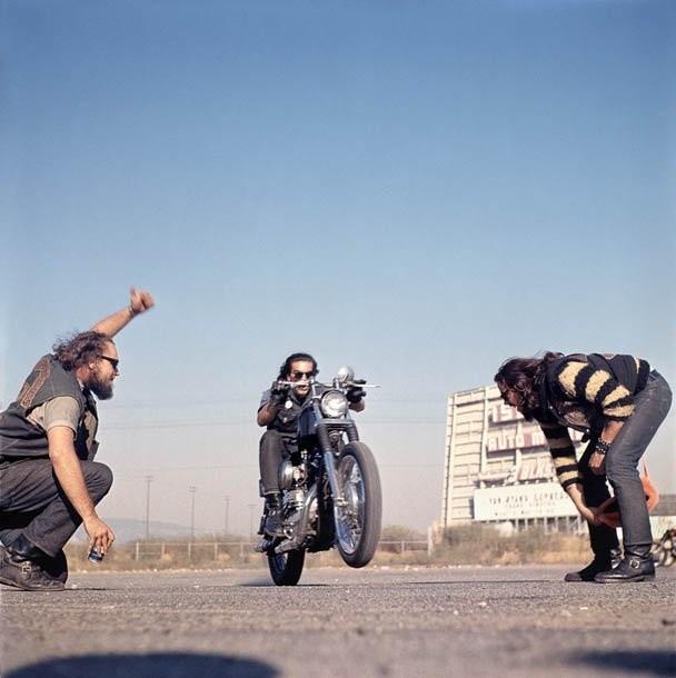 Hunter S. Thompson, Hell's Angels, Wheelie, California, c.1960s