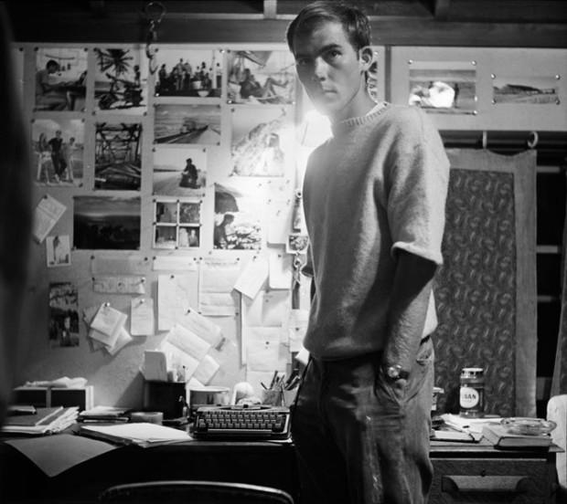 Hunter S. Thompson, Self Portrait, with Bulletin Board, c. 1960s
