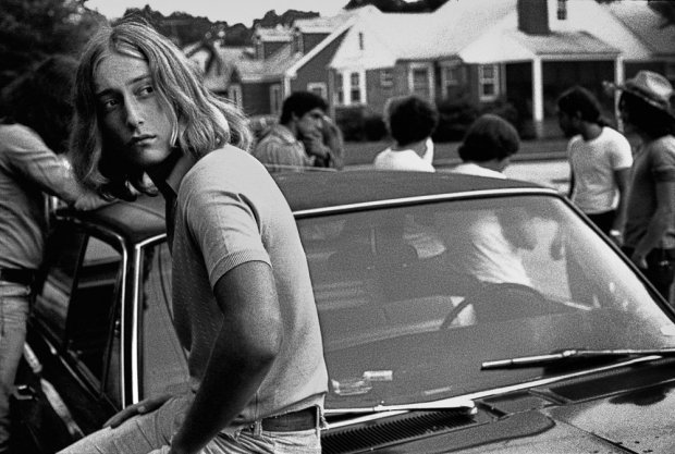 Joseph Szabo, Tom on his Car, 1977