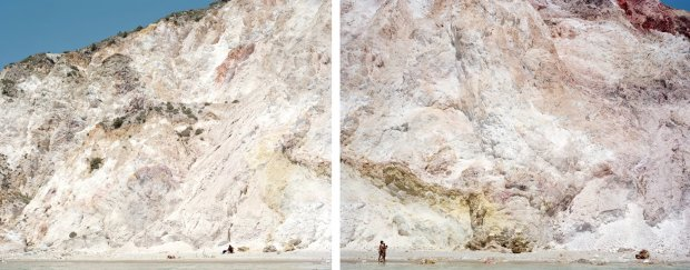 Massimo Vitali, Firiplaka Red Yellow Diptych (#4550-4551), 2011