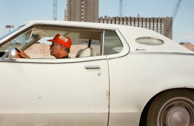 Andrew Bush, Man driving west at 23 mph down a yet-to-be-named dirt road, around lunchtime, during a construction boom in Las Vegas in June of 1989, 1989