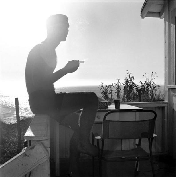 Hunter S. Thompson, Self Portrait, Silhouette Smoking, c. 1960s
