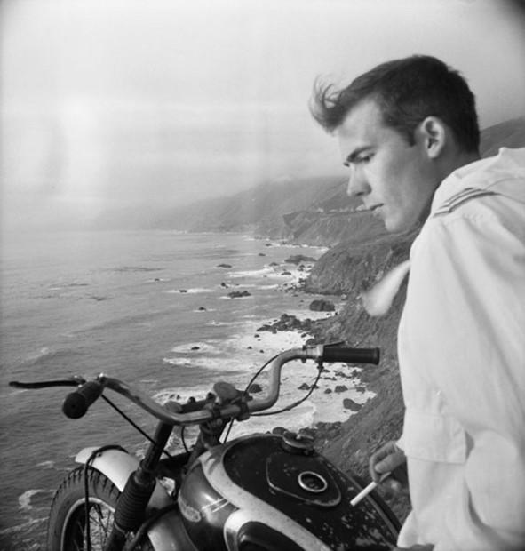 Hunter S. Thompson, Self Portrait, Big Sur on Motorcycle, c. 1960s
