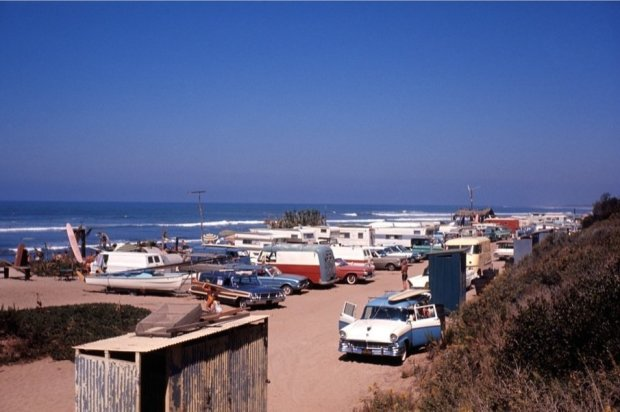 LeRoy Grannis, San Onofre Parking Lot (No. 57), 1964