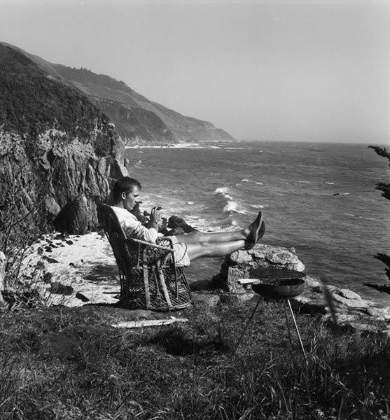 Hunter S. Thompson, Self Portrait, with Grill, Big Sur (HST41), c. 1960s