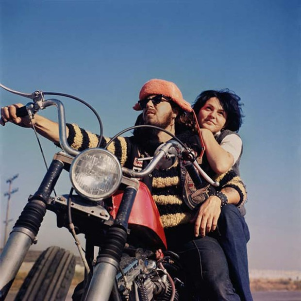 Hunter S. Thompson, Hell's Angels, Orange Hat and Girl, c. 1960s