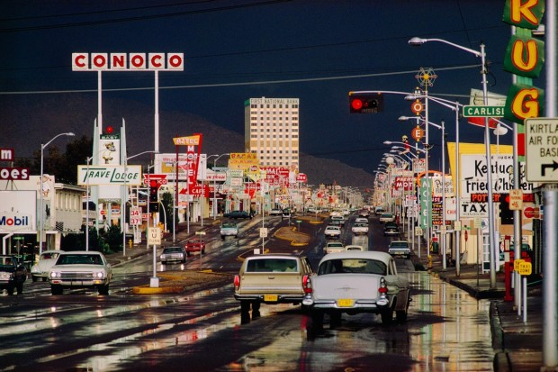 Ernst Haas, Route 66, Albuquerque, New Mexico, 1969
