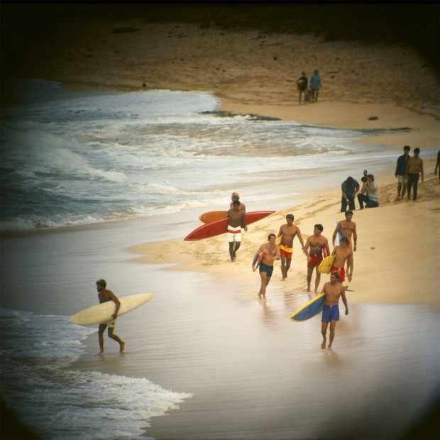 LeRoy Grannis, Duke Contest Finalists, Sunset Beach, 1968
