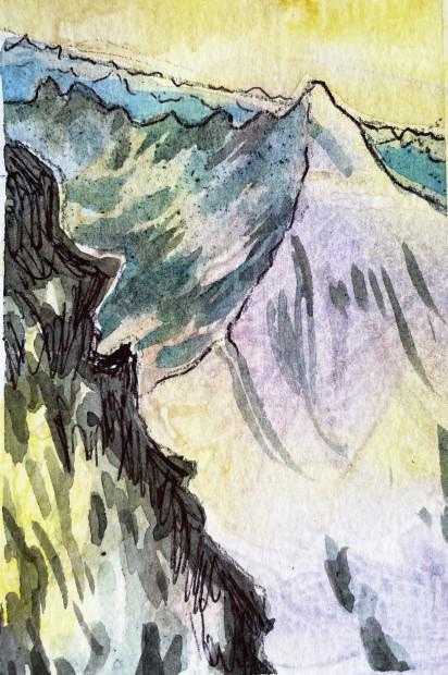 E. Tilly Strauss, Mountain Summit, 2020