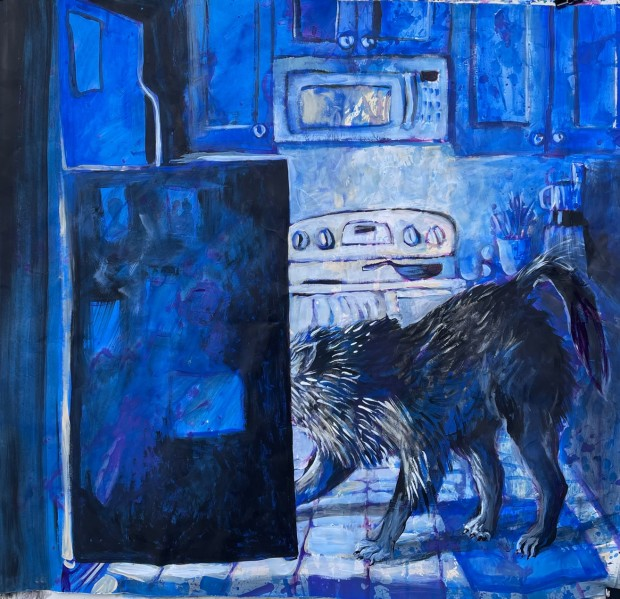 E. Tilly Strauss, A Wolf- Somebody is Hungry, 2021