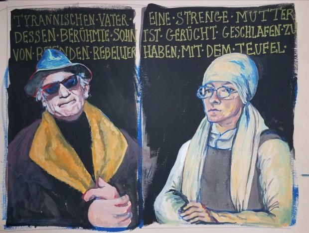 E. Tilly Strauss, Portraits after Cranach, 2018