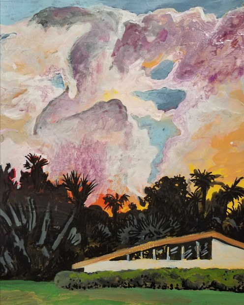 E. Tilly Strauss, Clouds Over House, 2018