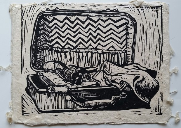 E. Tilly Strauss, Suitcase and Binoculars, 2017