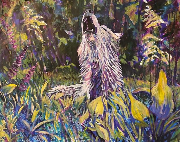 E. Tilly Strauss, A Wolf Howl, 2021