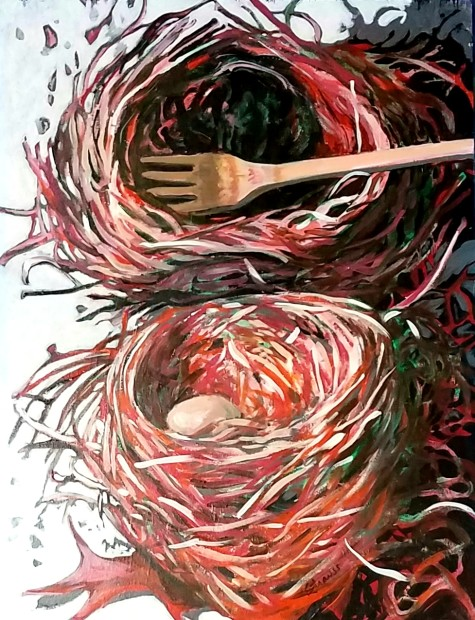E. Tilly Strauss, Nest with Fork, 2012