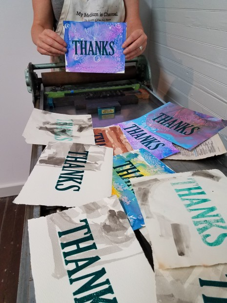 "E. Tilly Strauss, Letterpress ""Thanks"""