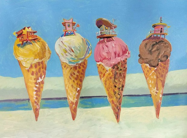 E. Tilly Strauss, South Beach Cones, 2019