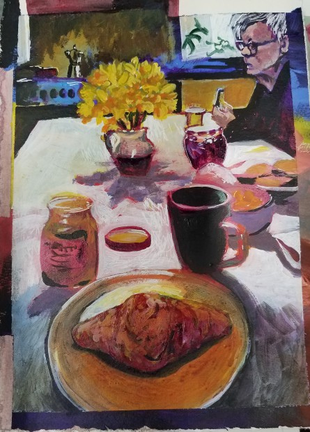 E. Tilly Strauss, Breakfast, 2018