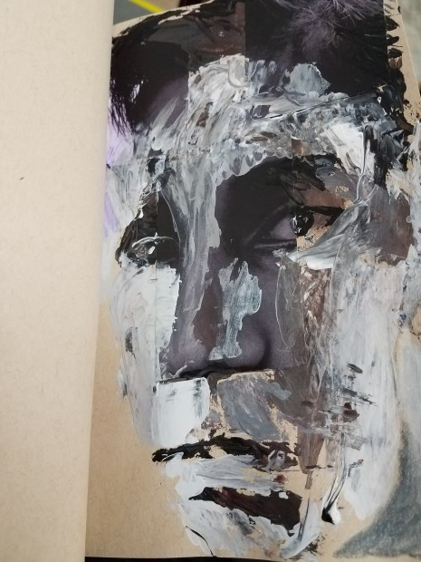 E. Tilly Strauss, Sketch- pallet knife portrait, 2018