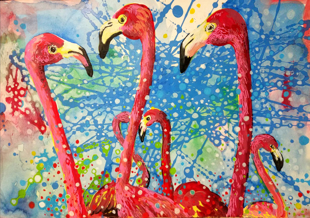 Birds of a Feather, Flamingo Huddle, 2019