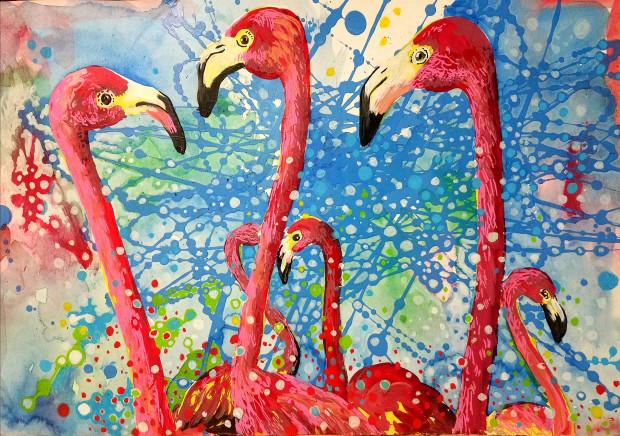 Birds of a Feather, Flamingo Huddle, 2019