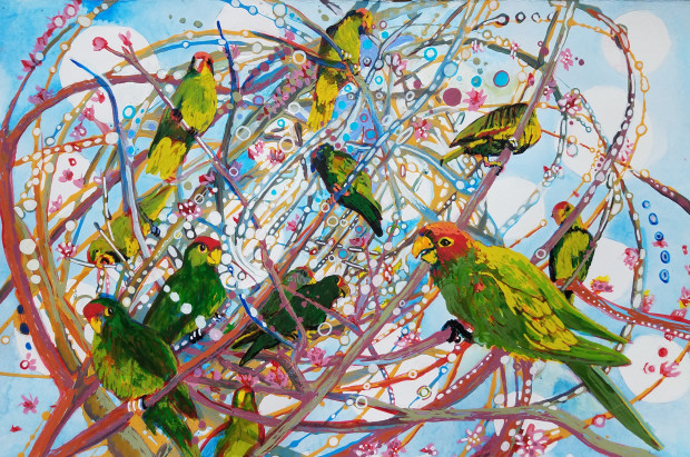 E. Tilly Strauss, Parrot Bramble, 2019