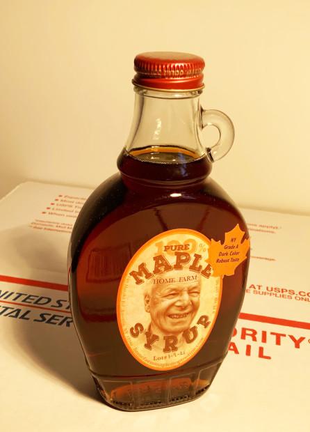 E. Tilly Strauss, One 8oz. Bottle dark Home Farm Maple Syrup, 2021