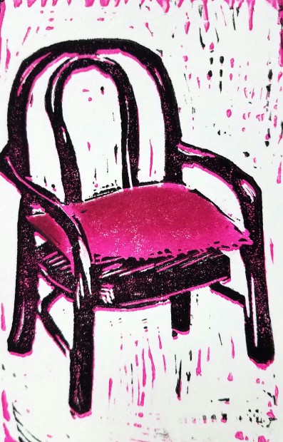 E. Tilly Strauss, Chair with Pillow, 2017