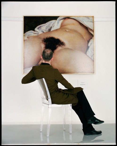 Jean-Baptiste Mondino, Man Looking at the Origin of the World, 1998