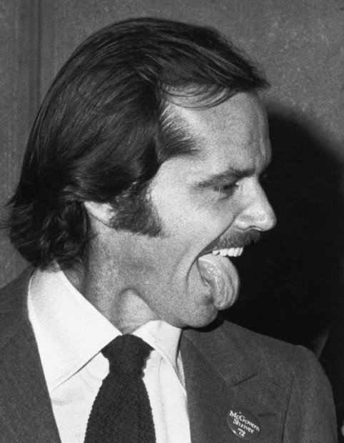 "Ron Galella, Jack Nicholson attends the premiere party for ""Heat"" at Jerry's Restaurant, New York, October 5, 1972"