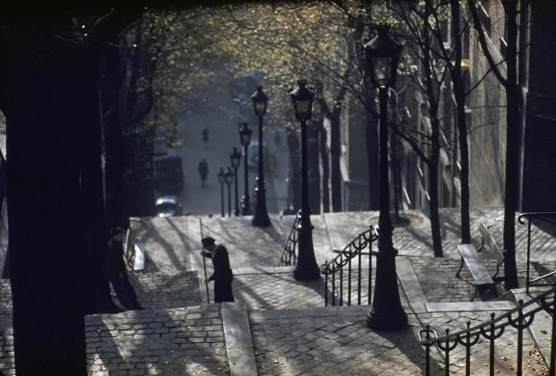 Ernst Haas, Montmartre Steps, Paris, 1954